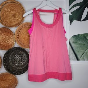 Lucy Two Layer Pink Workout Yoga Strappy Tank
